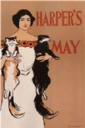 Vintage Harper's May Advertising Poster.